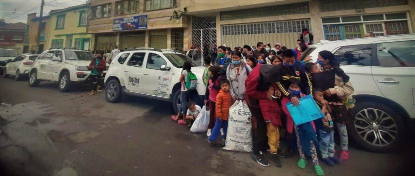 Desalojo Pueblo Embera en Bogotá