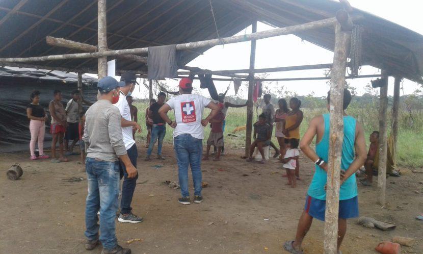 Entrega de ayuda humanitaria al Pueblo Nukak en el Guaviare