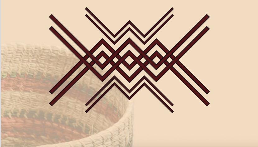 tejido de alas de murciélago que hacen los Nükak en color similar al cumare.